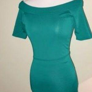 Bcbg dress teal/emerald green color